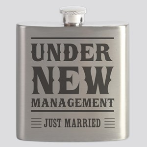 Under New Management Just Married Flask